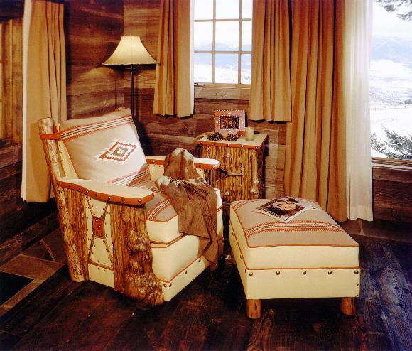 Burl Club chair and Ottoman