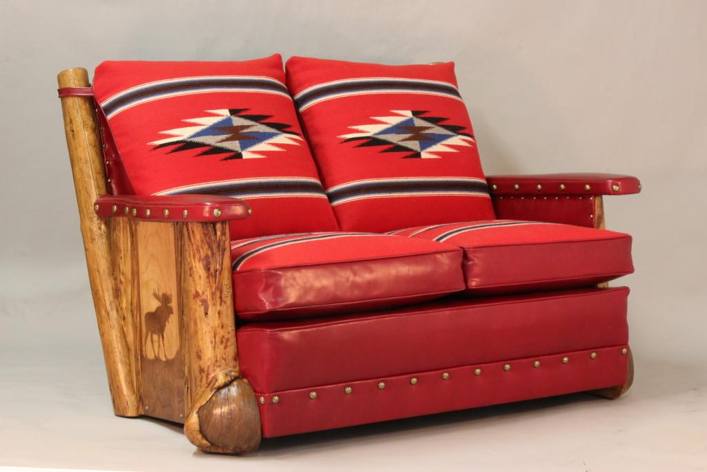 Burl Leg Love seat