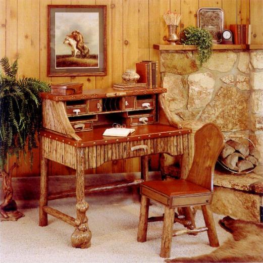 Tan Leather Desk