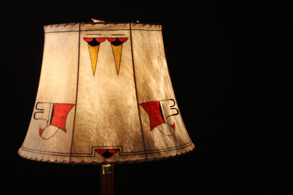 Hand Painted Raw Hide Shade