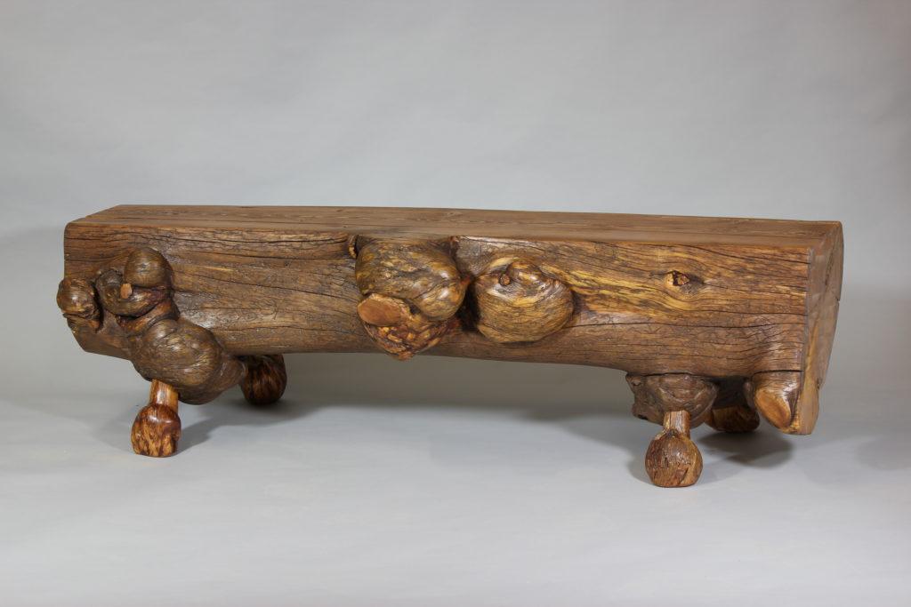 Burl Log Bench