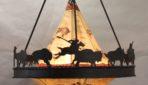 Buffalo Hunt Teepee chandelier